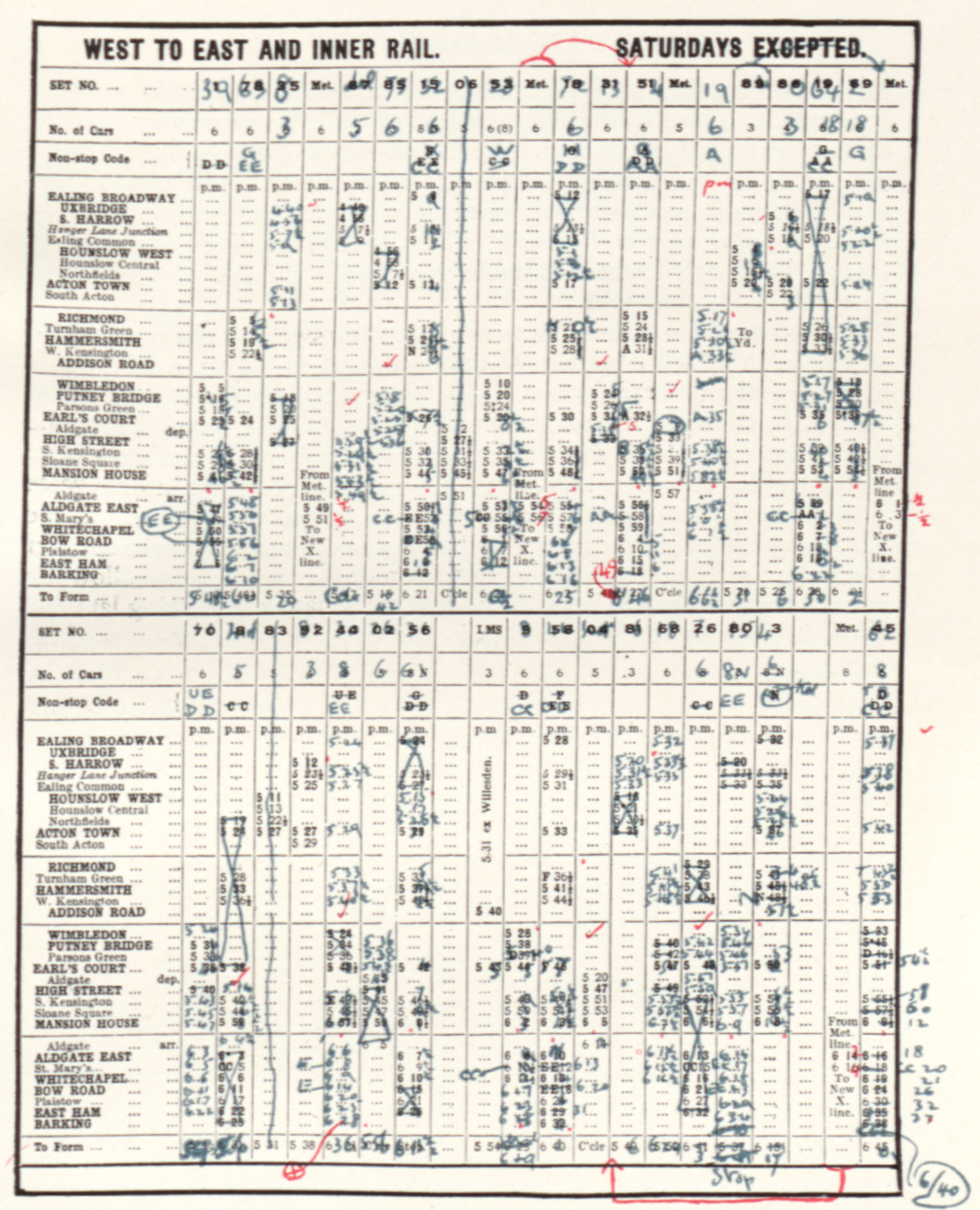 Henry Charles Beck Material Culture And The London Tube Map Of 1933 Home Outlet Wiring Diagram House Diagrams Darren Criss Fig 8 Revised Timetable After Interval Changes On District Line Ca 1928