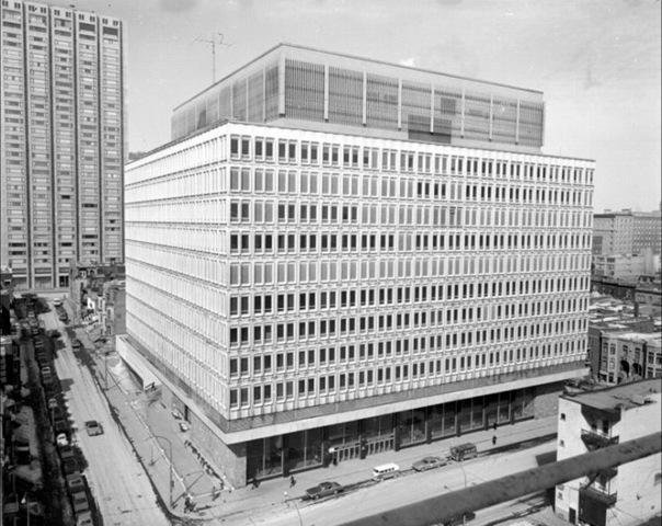 Henry F. Hall Building, Sir George Williams University, 1970.