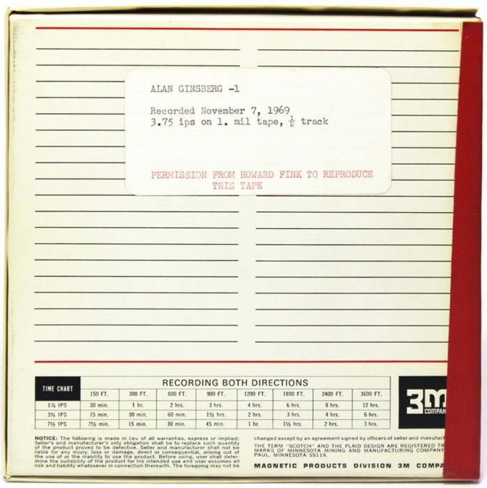 "Image 2: Tape Box ""Alan"" Ginsberg"
