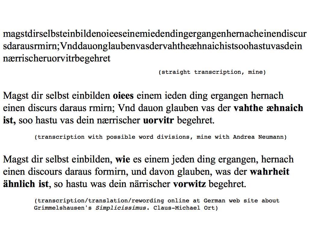 TRANSLATIONAL GRANULARITY - Amodern