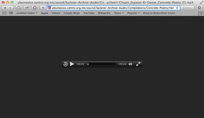 Screenshot of Native HTML 5 Player in Safari.